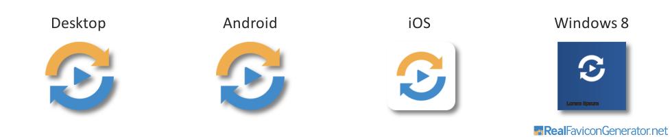 Cómo se aplican los favicon en distintos dispositivos